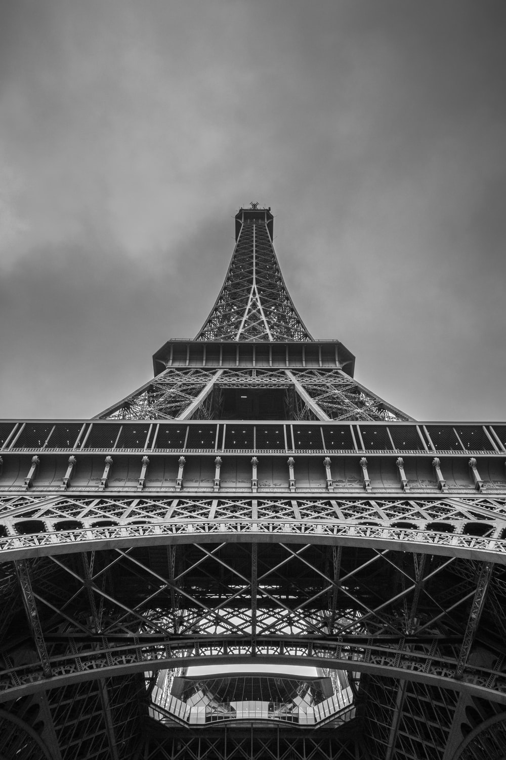 low angle photo of the Eiffel tower