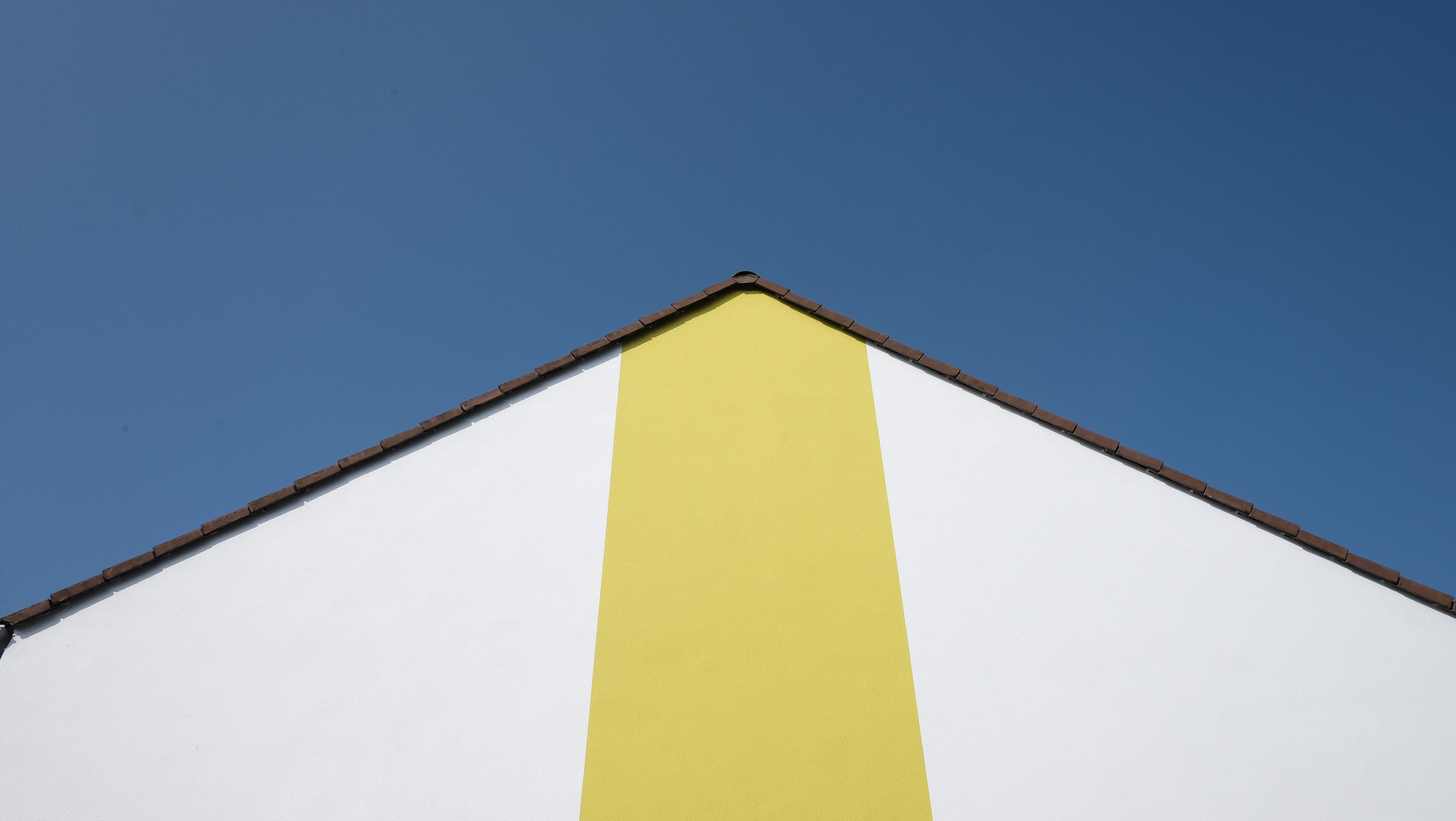 yellow and white house
