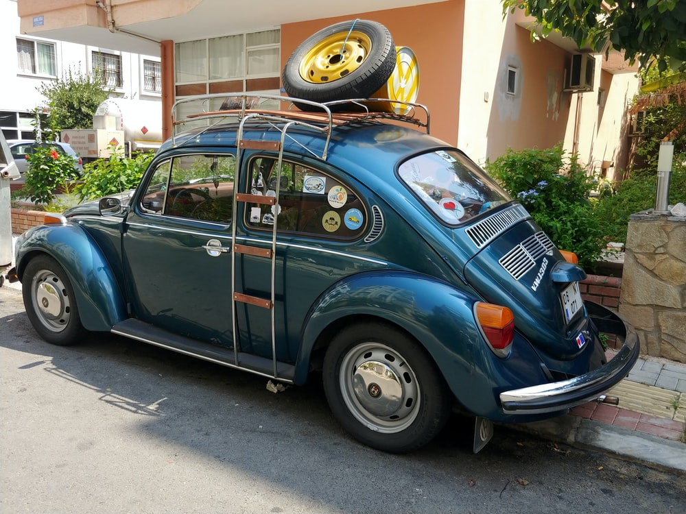 blue Volkswagen Type 1
