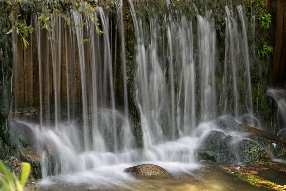 waterfall and water stream