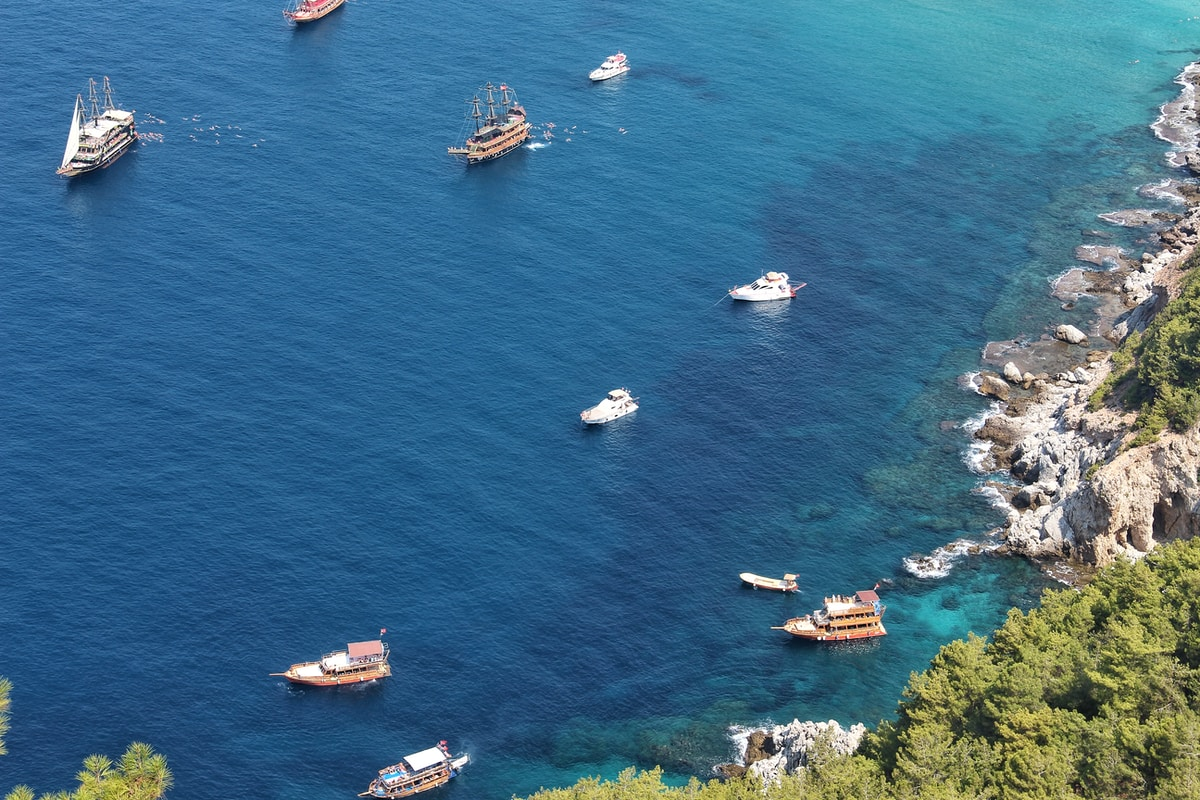 boats on sea