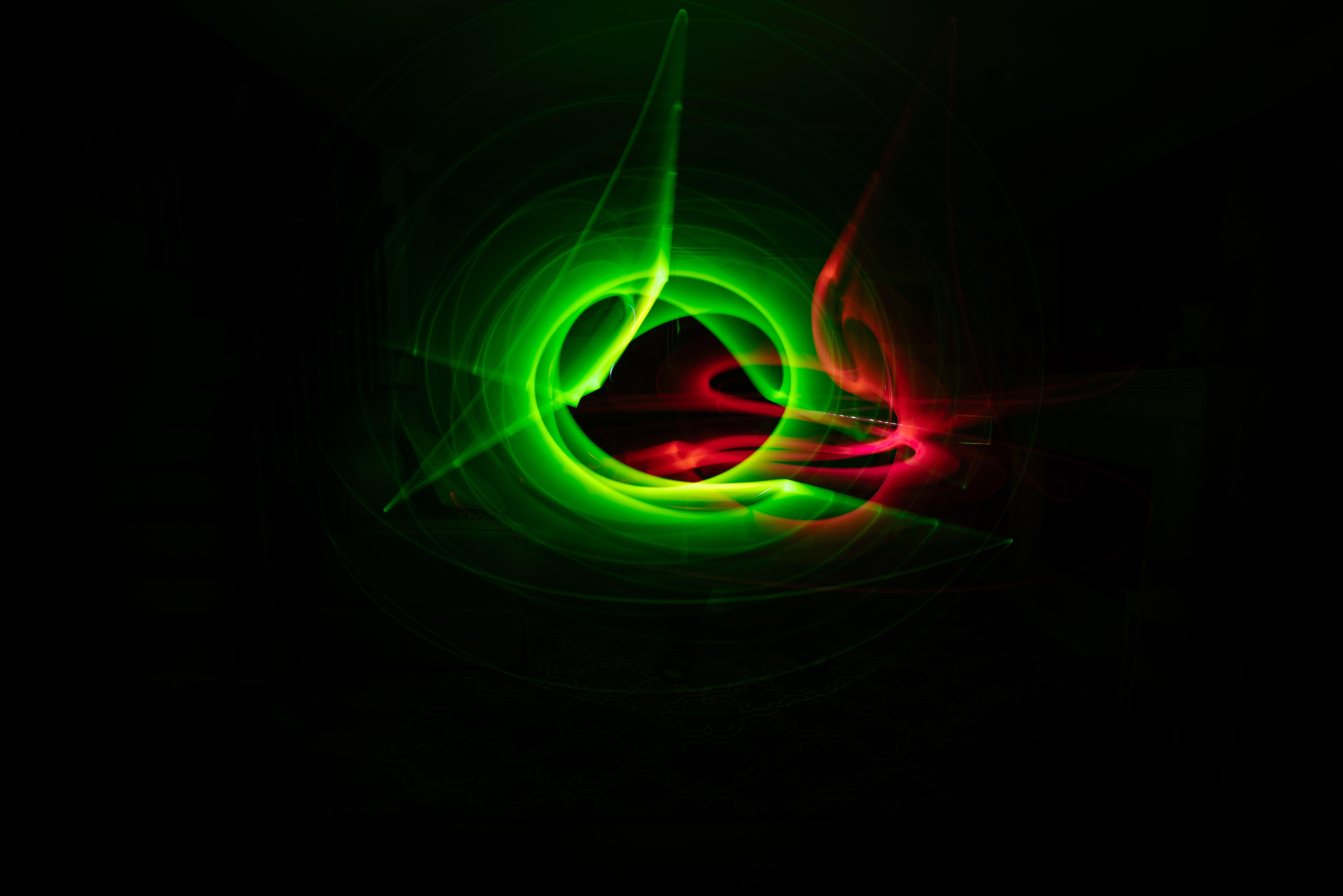 red, black, and green digital wallpaper