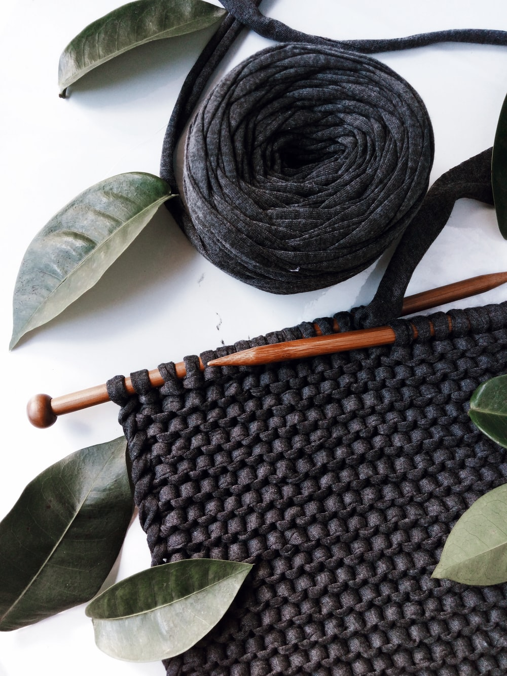 close-up photo of black textile