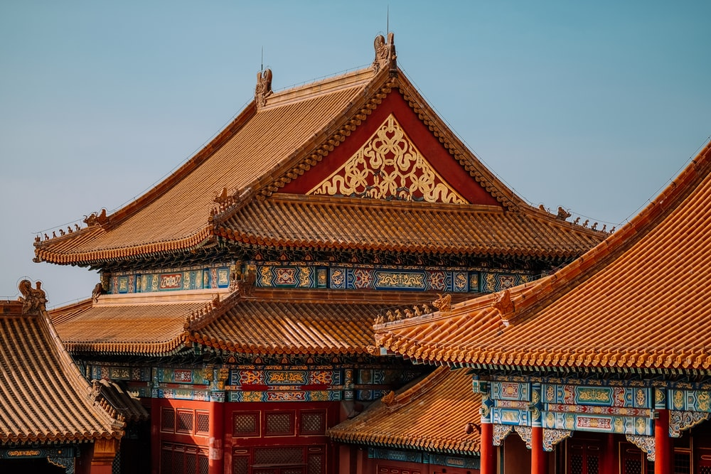 brown and red temple during daytime