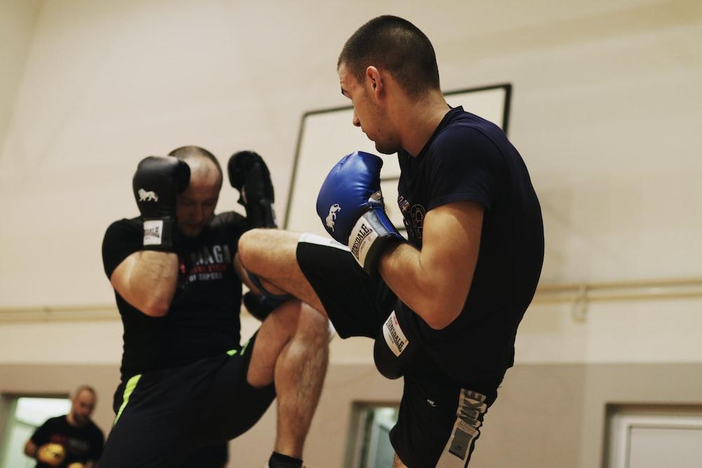 two man kickboxing