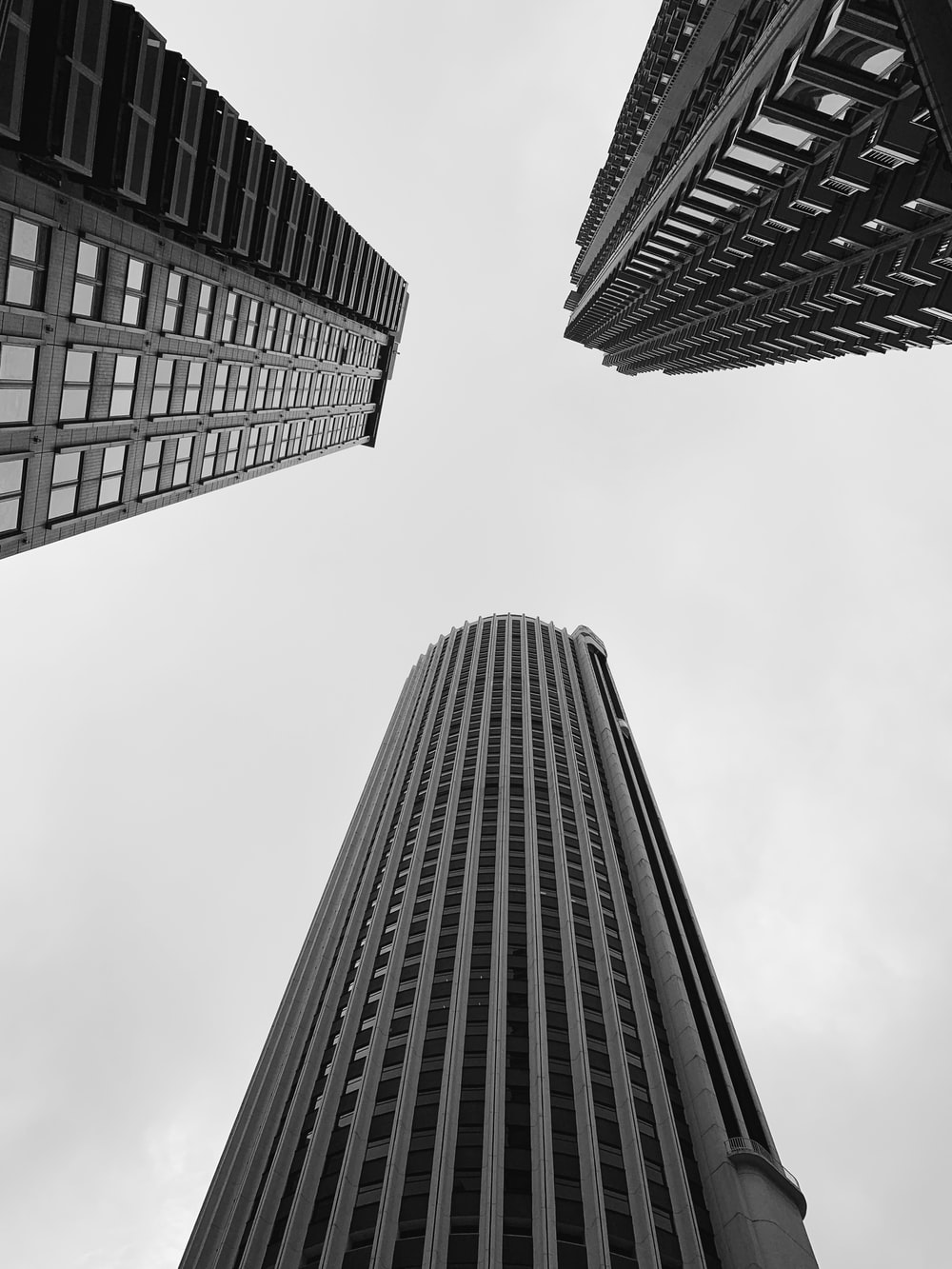 high rise building low angle photography