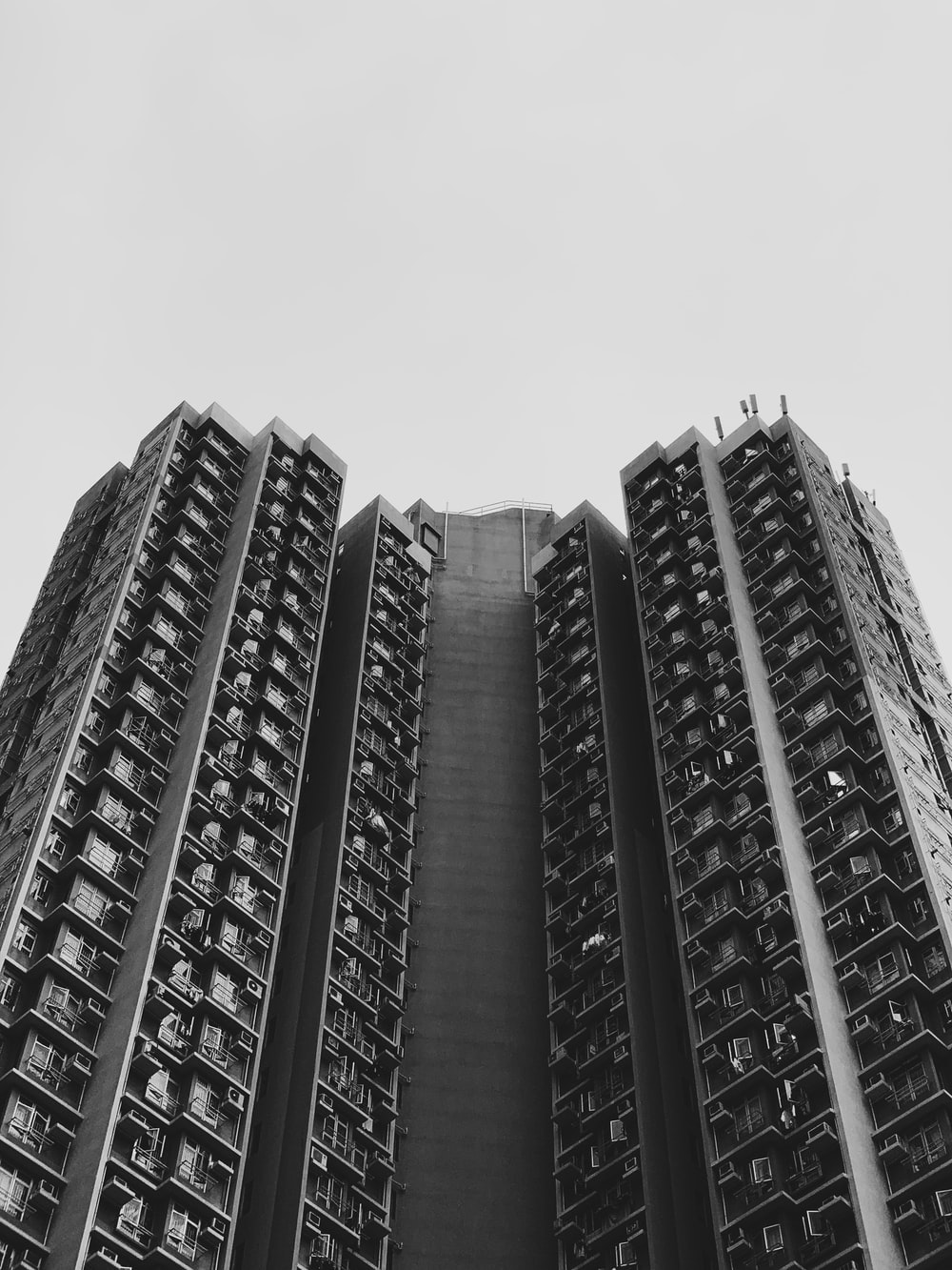 low angle photo of high rise buildings
