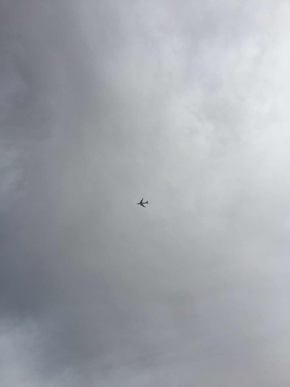 low-angle photography of airplane