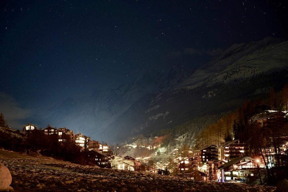 panorama city near by mountain