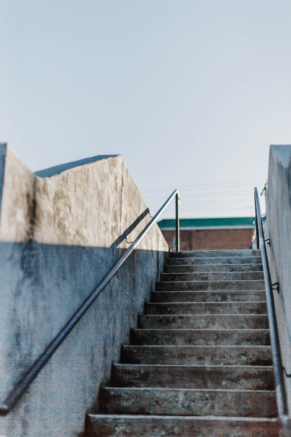 gray concrete staircase during daytime