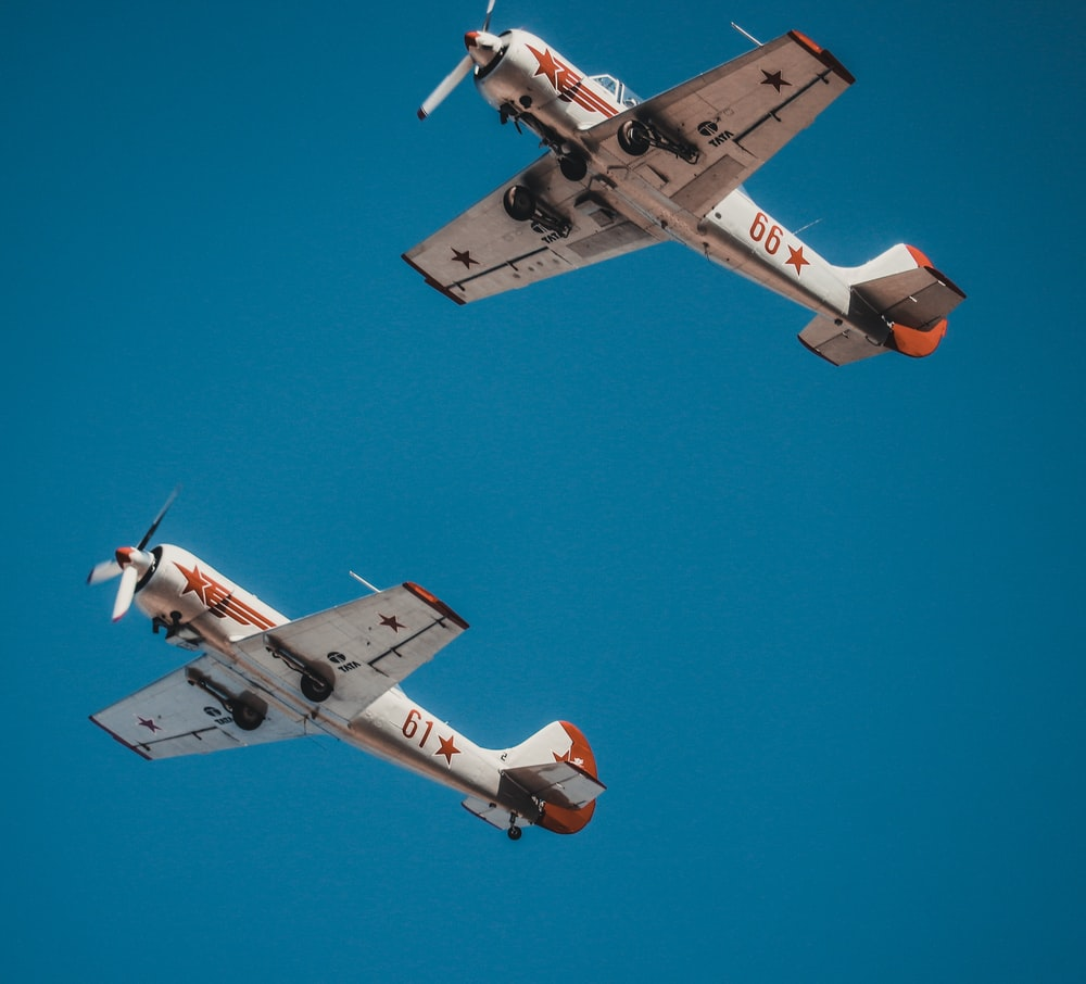 two fighter jets on flight