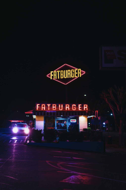 car parked near Fatburger restaurant