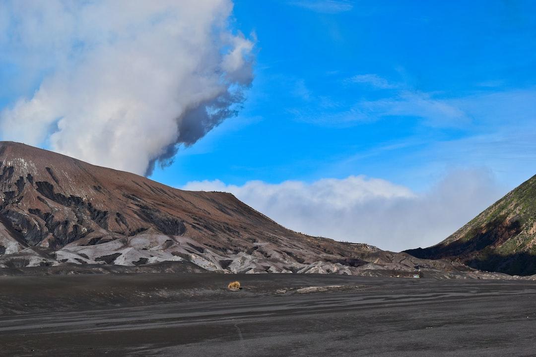Smoke from Mount Bromo