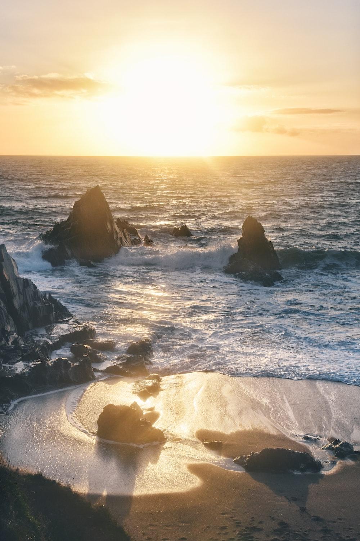 ocean view during sunrise