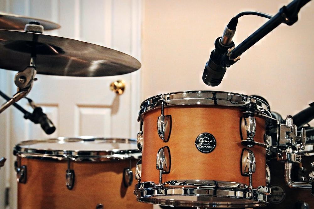 drum kit near closed door