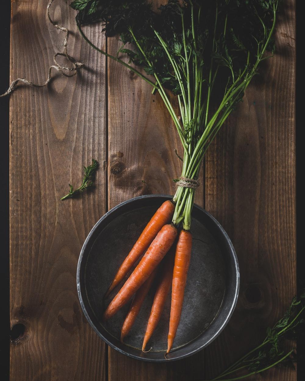 orange carrots in bowl