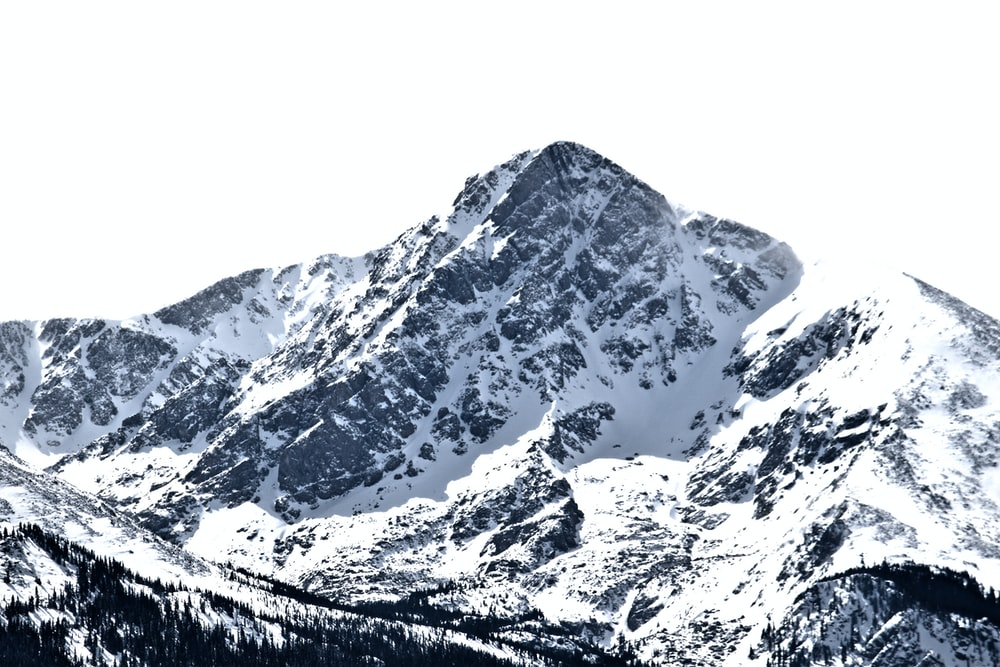 icy mountain scnery