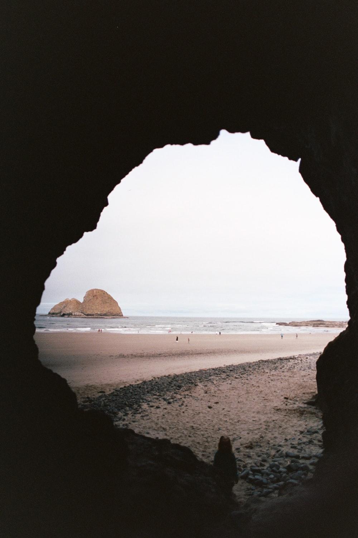 cave facing ocean