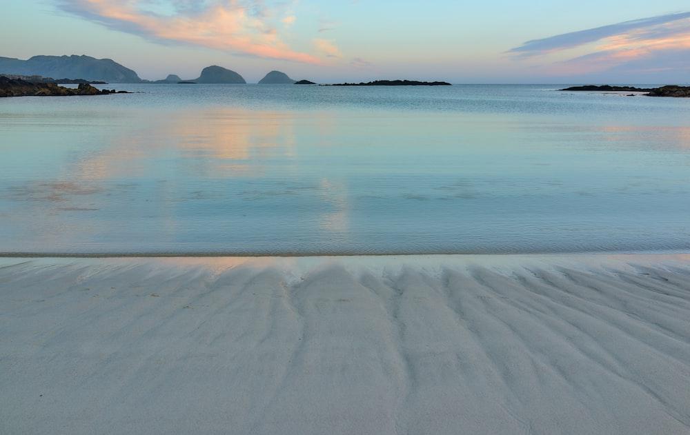 seashore across horizon during daytime