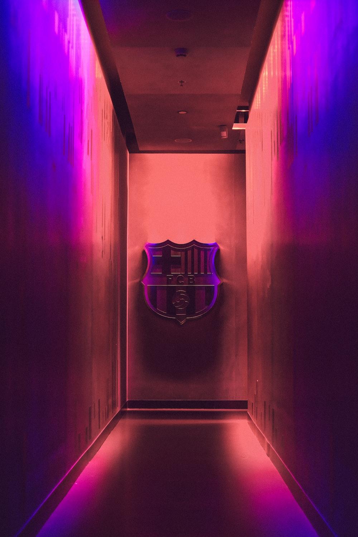football emblem on wall