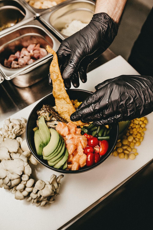 person preparing dish