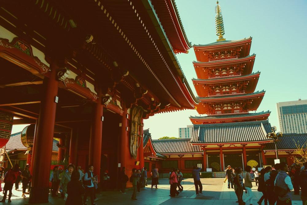 people inside Forbidden City