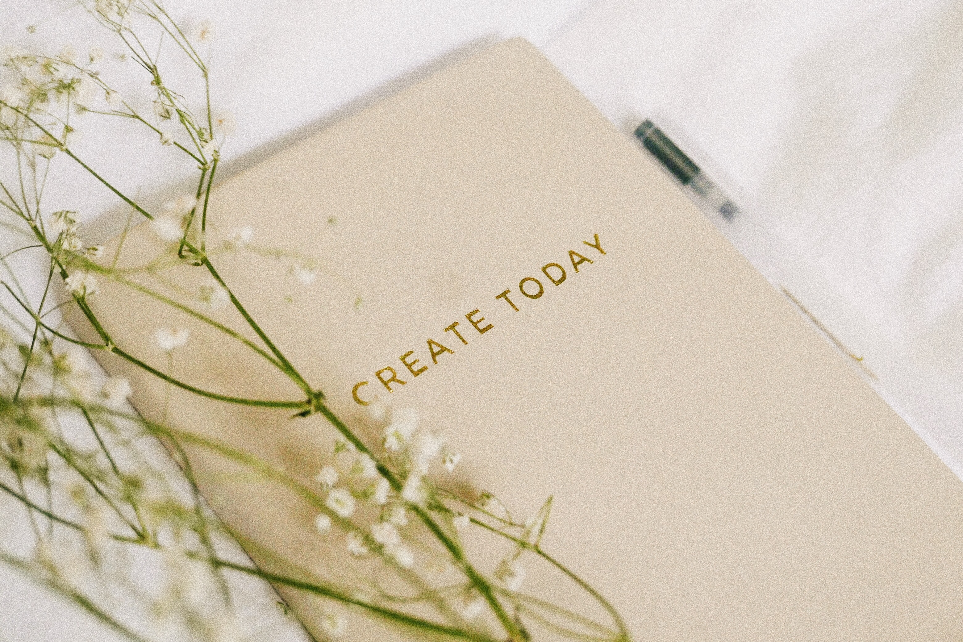 white flowers on book