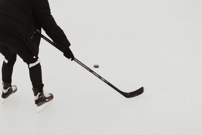 person playing hockey