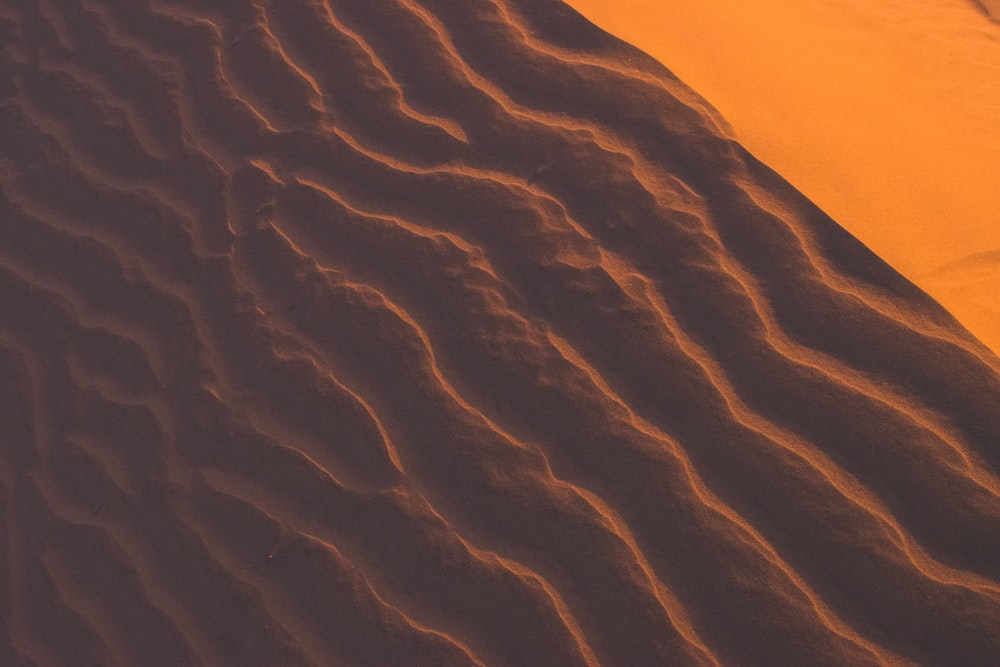 high-angle view of desert
