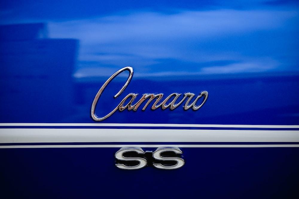 blue Chevrolet Camaro SS