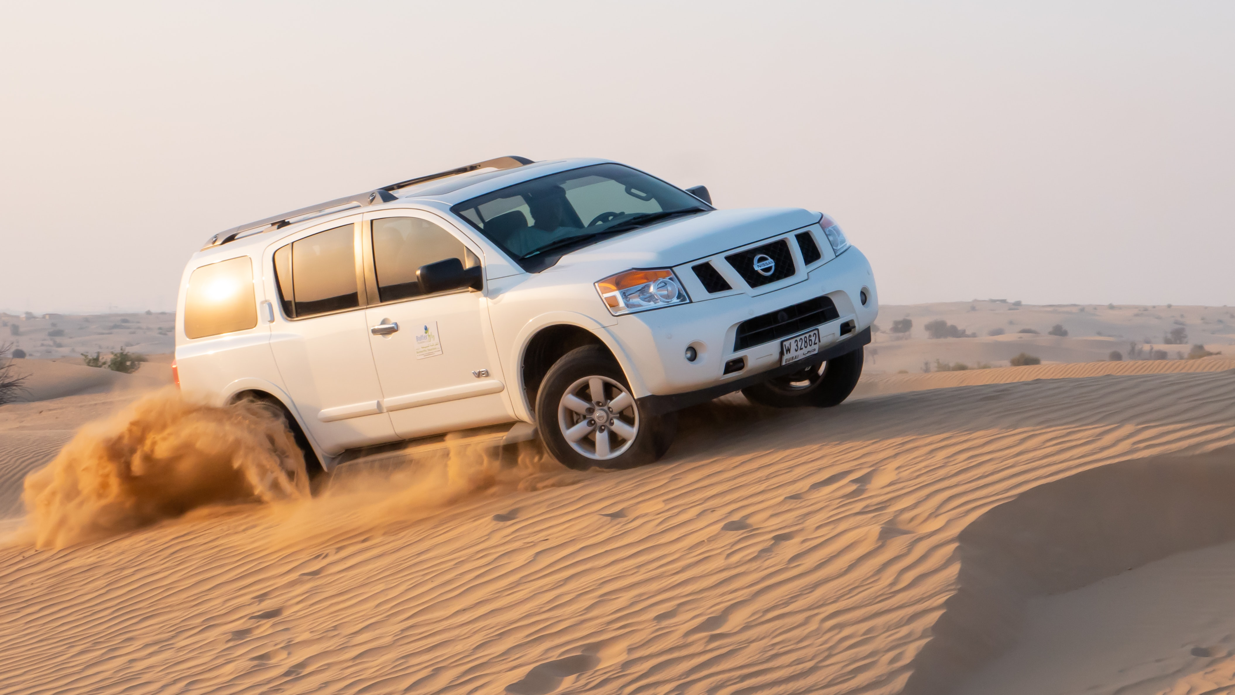 White Nissan Suv At The Desert During Day Photo Free Car Image On Unsplash