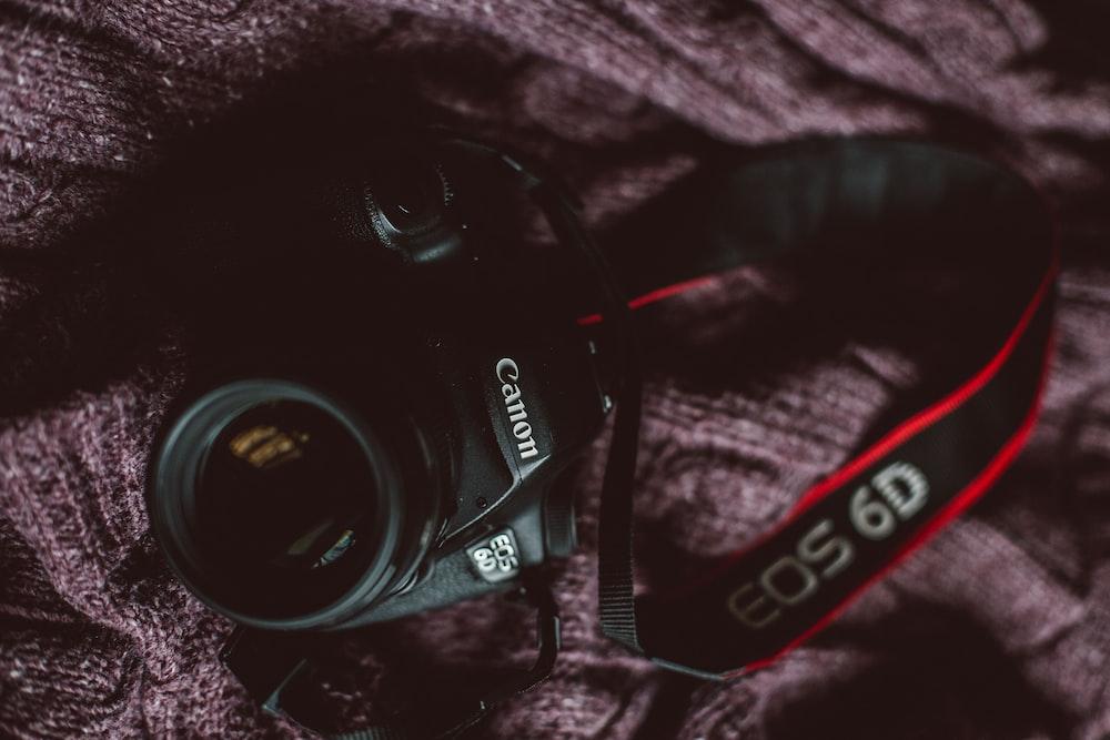 black Canon EOS 6D