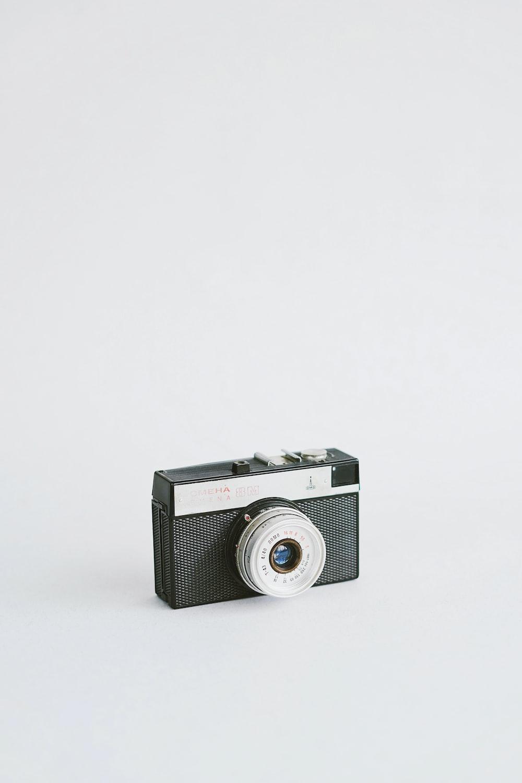 black and gray film camera