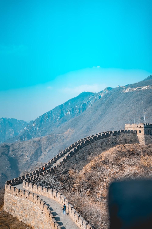 Wall of China aerial view