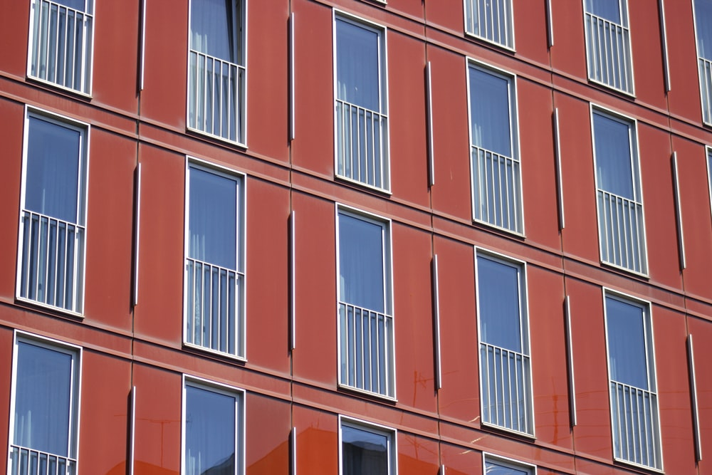red high-rise building