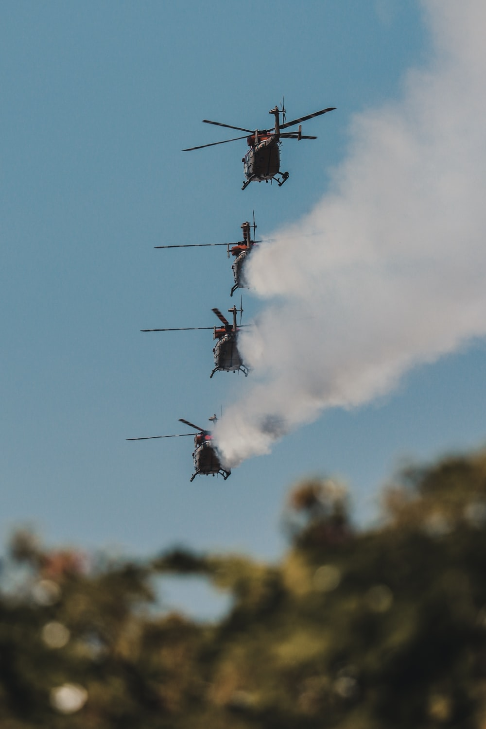 four black helicopters