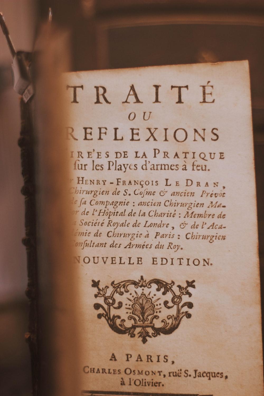 Traite ou Rflexions book