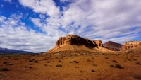 landscape photography of Butte mountain