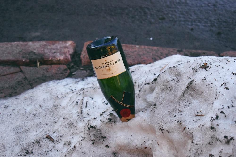 white labeled bottle