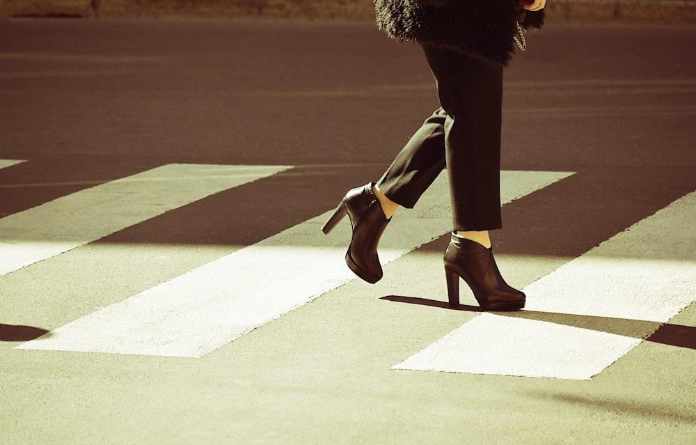 square-heeled female high heels