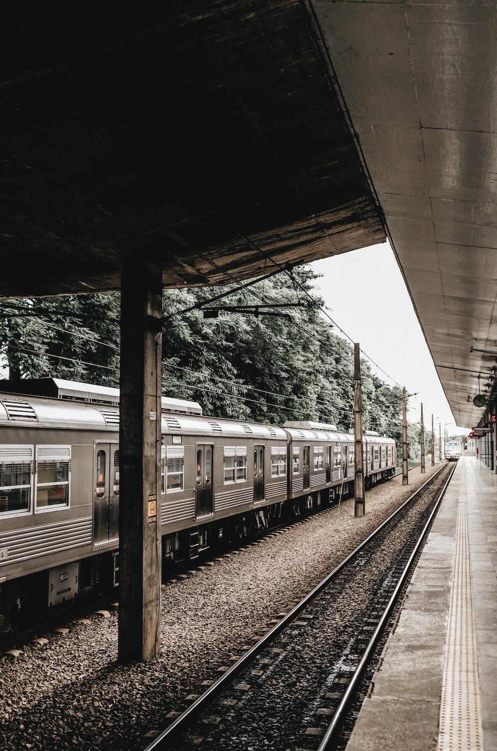 gray train road