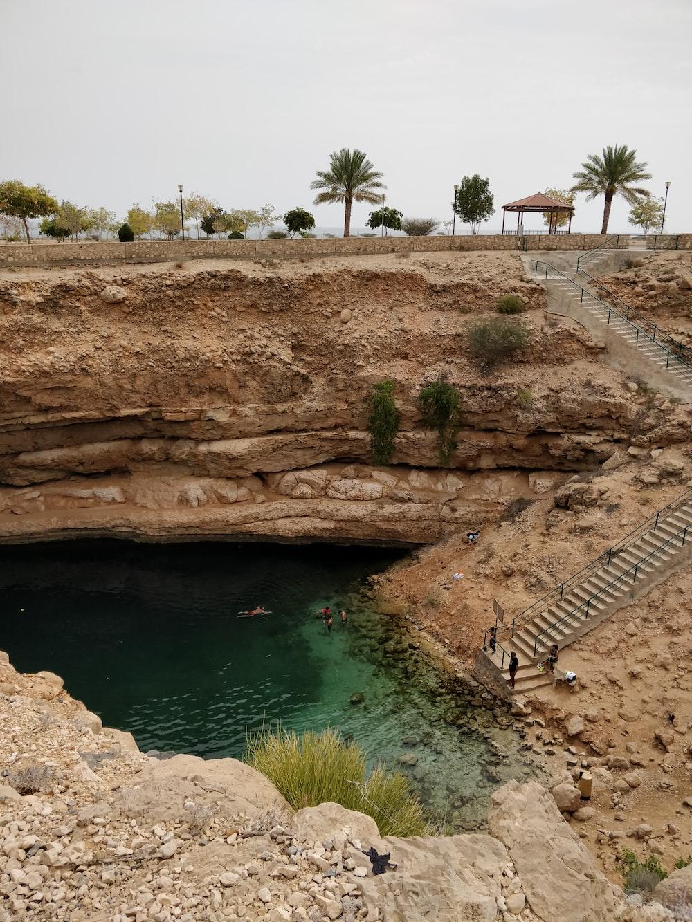 body of water under bridge