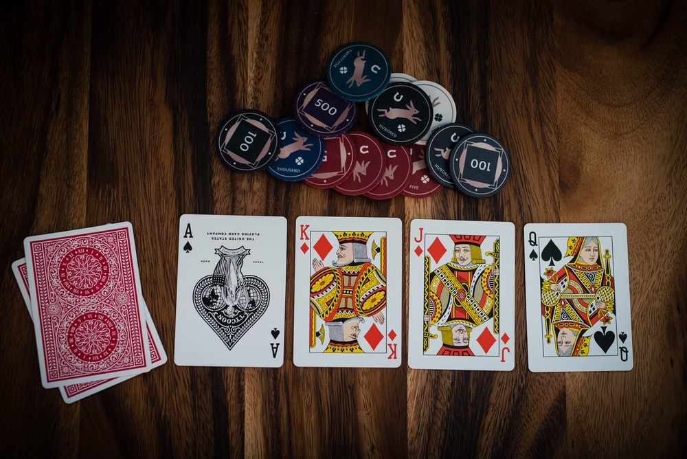 assorted-color playing cards