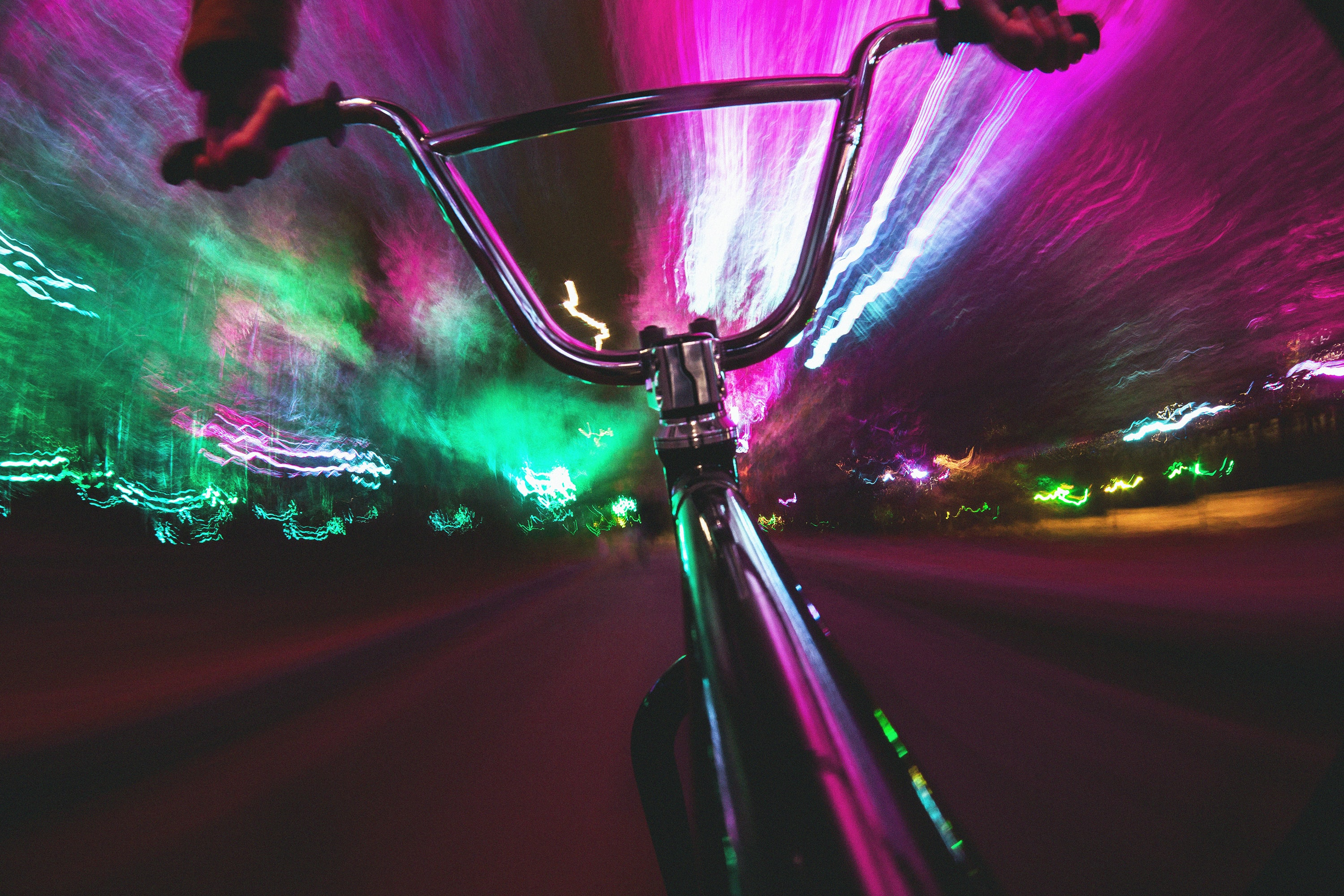 close-up photo of multicolored bicycle