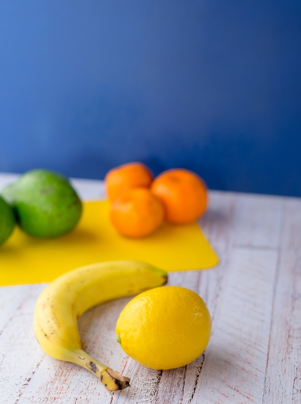 lemon and banana fruits