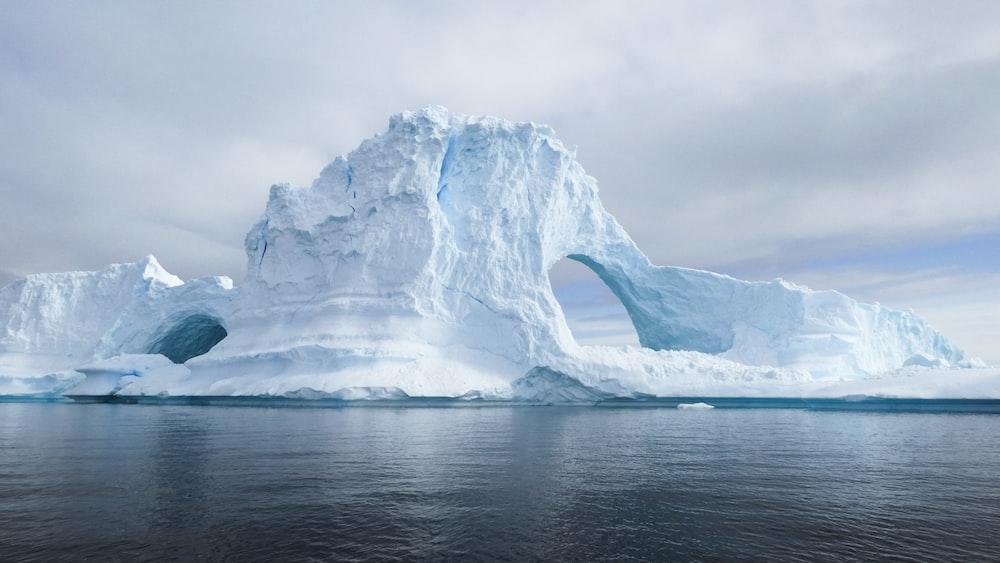 glacier during daytime