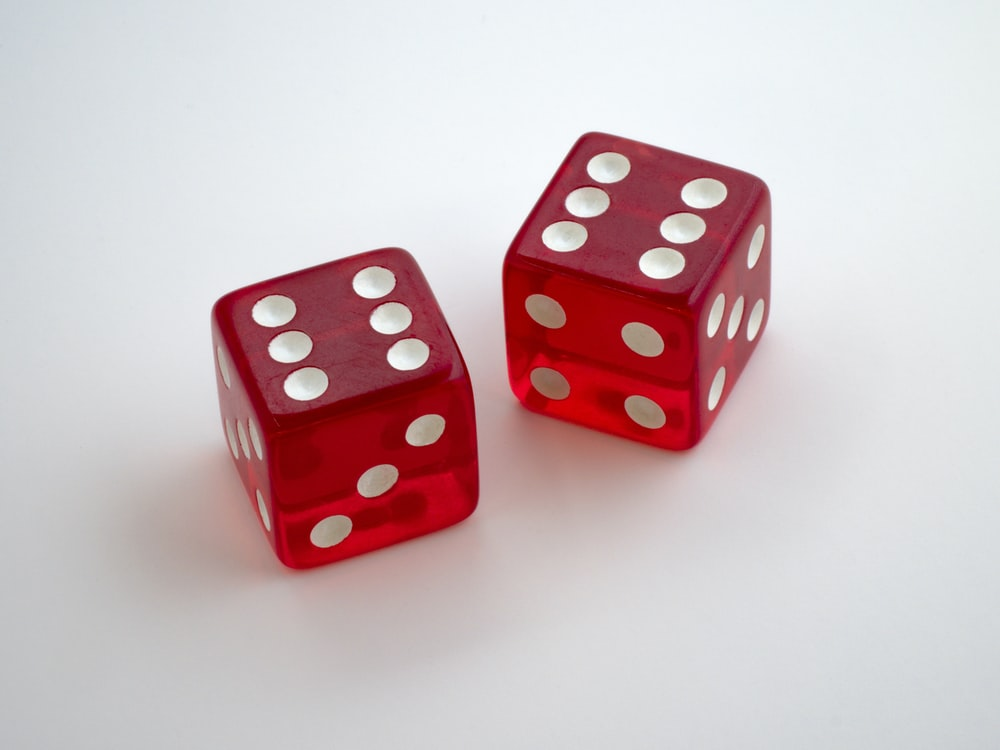 two dices with 6 dots