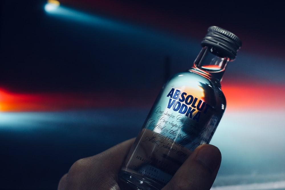 small Absolut Vodka bottle