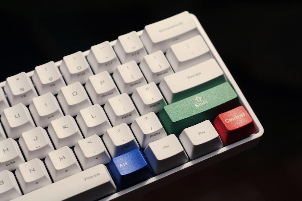 white computer keyboard