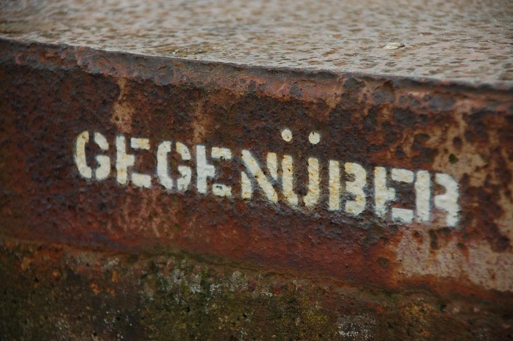 Gegenuber signage
